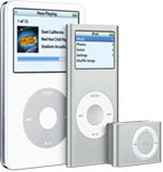All three models of iPod saw upgrades.