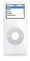 The iPod nano is tiny, tiny, tiny.