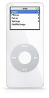 The iPod nano is tiny, tiny, tiny.