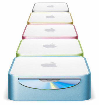Mac minis could look kinda nice with a splash of color.