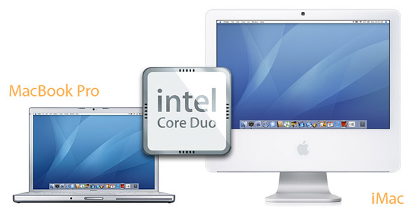 The new MacBook Pro and iMac both feature Intel 'Core Duo' processors claiming twice to quadruple the performance of the previous generation of Macs.