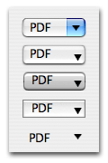 Quite a selection: rounded, square, square textured, shadowless square, and borderless pulldown menus