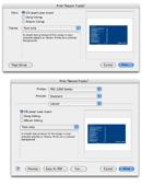 """iTunes' print pane versus a mockup """"standard"""" print pane"""